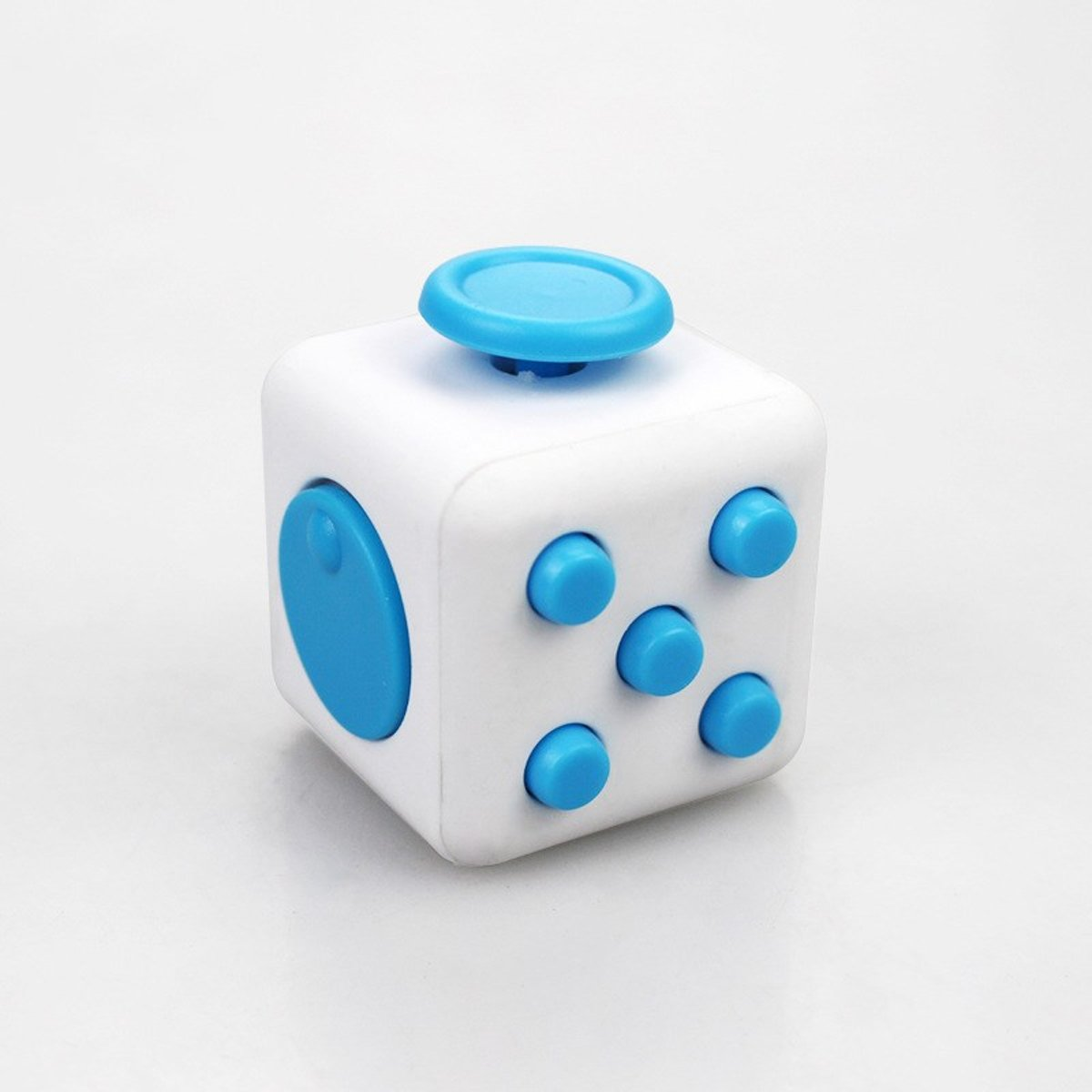 Cube Anti Stress Friemelkubus - Blauw/Wit