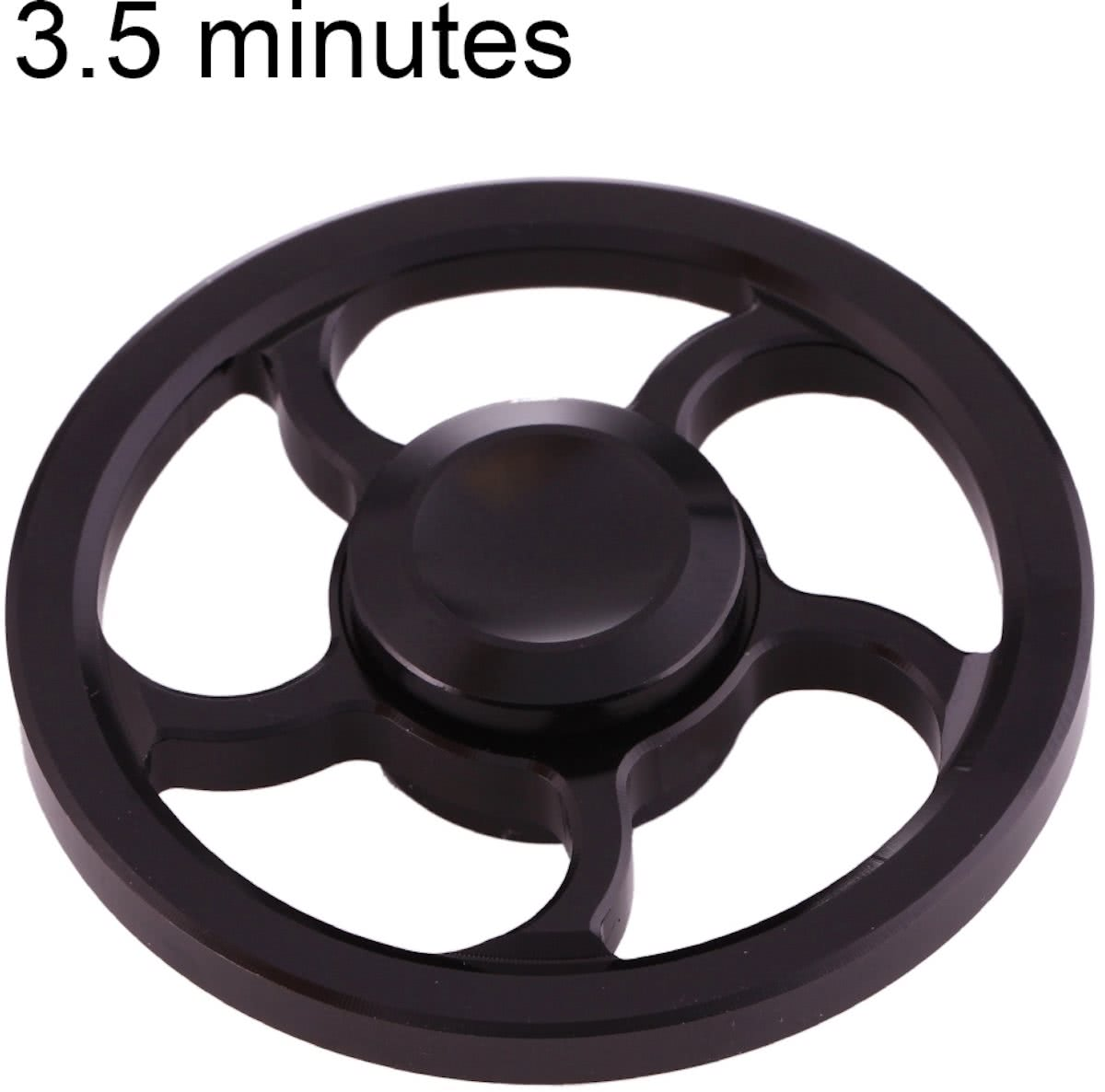 Spinner Toy Stress rooducer Anti-Anxiety Toy voor Children en Adults, 3.5 Minutes Rotation Time, Small Steel Beads Bearing + Aluminum Alloy materiaal, Wind Wheel(zwart)