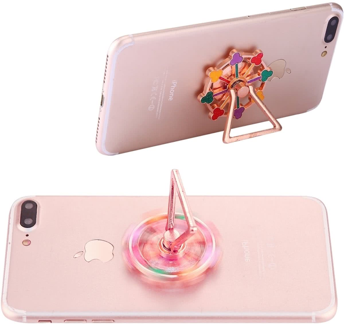 Flower Ferris Wheel Shape Phone Triangle houder   Spinner Toy Stress rooducer Anti-Anxiety Toy, About 0.2 Minutes Rotation Time