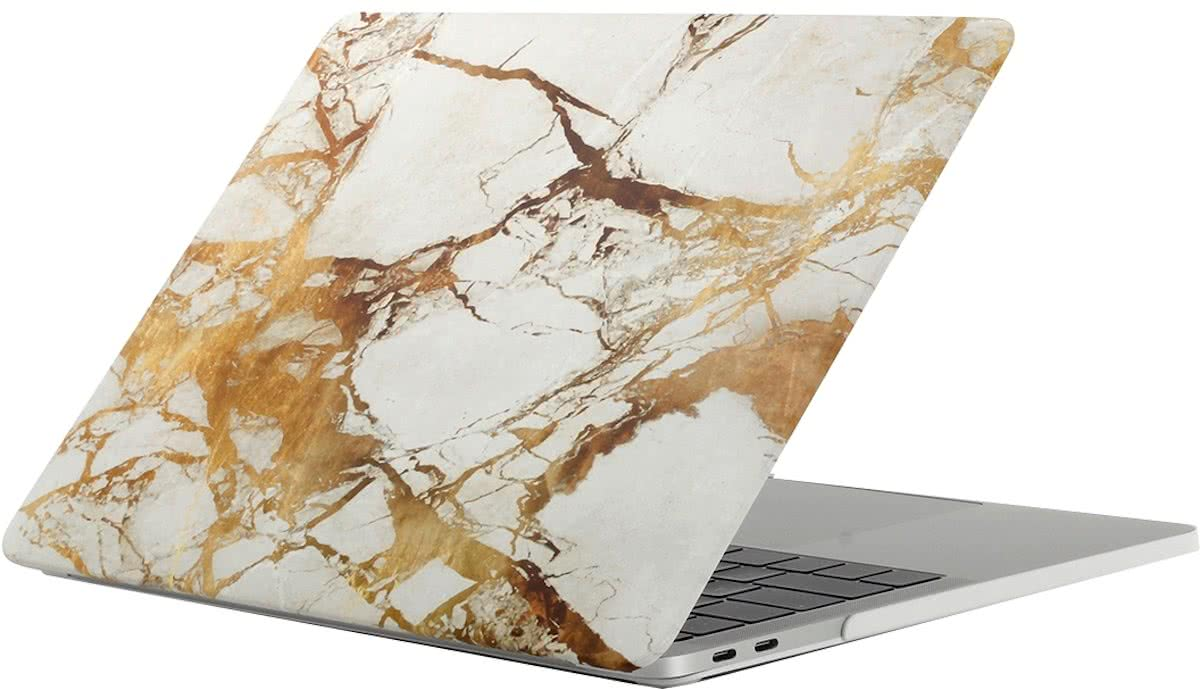 For 2016 New Macbook Pro 13.3 inch A1706 & A1708 Beige White Gold structuur Marble patroon Laptop Water Decals PC beschermings hoesje