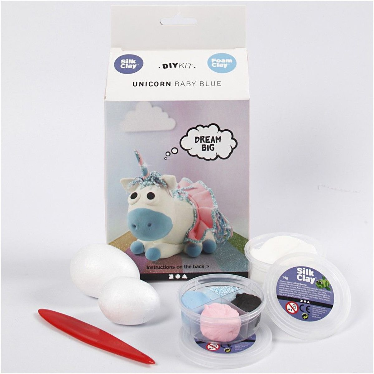 Funny Friends, blauw, unicorn, 1set