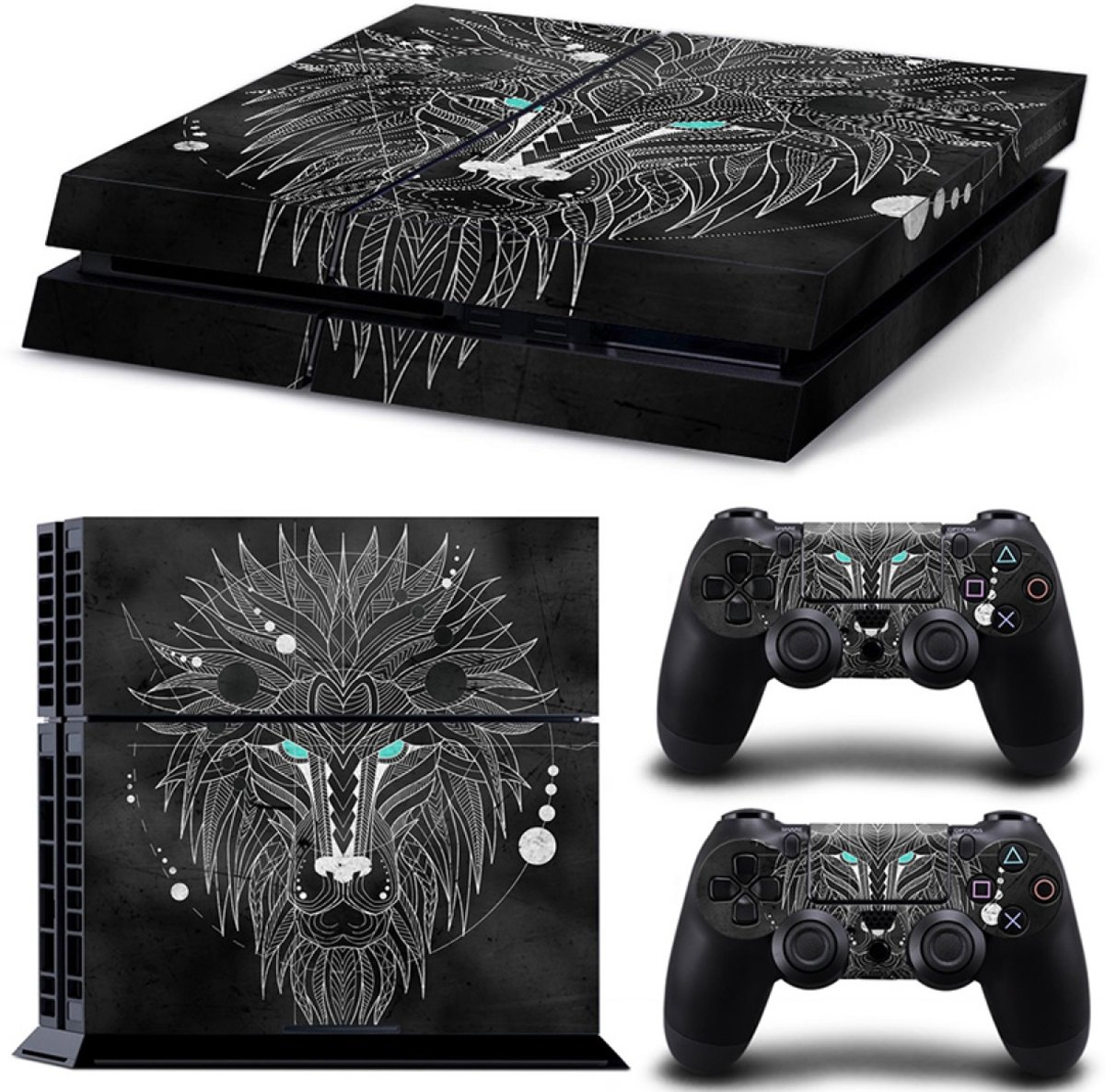 Geometric Lion - PS4 Console Skins PlayStation Stickers