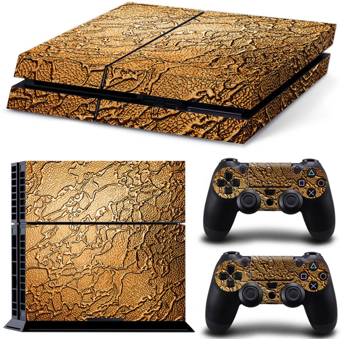 Golden Waves - PS4 Console Skins PlayStation Stickers