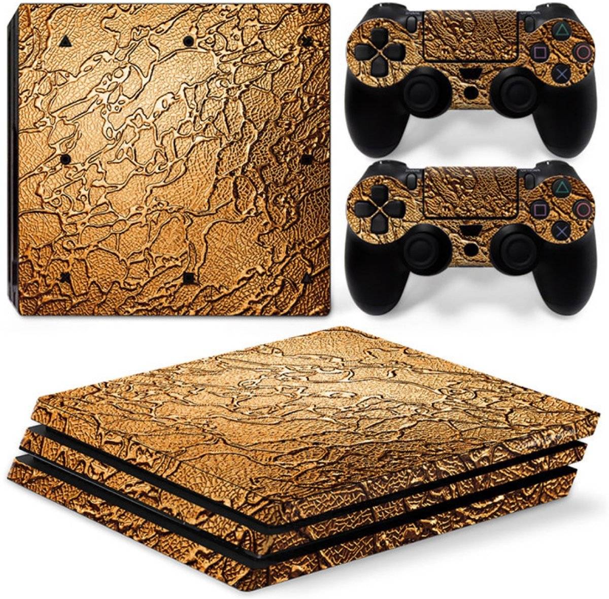 Golden Waves - PS4 Pro Console Skins PlayStation Stickers
