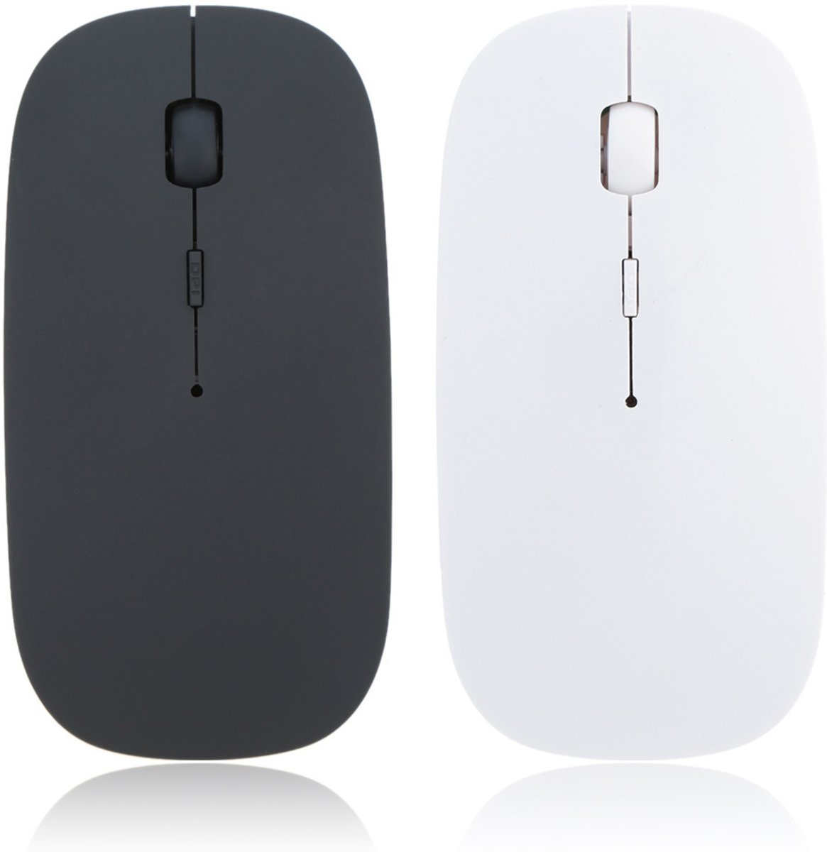 Grote Draadloze Muis Bluetooth Wireless Gaming Mouse 2.4 Ghz - Zwart of Wit
