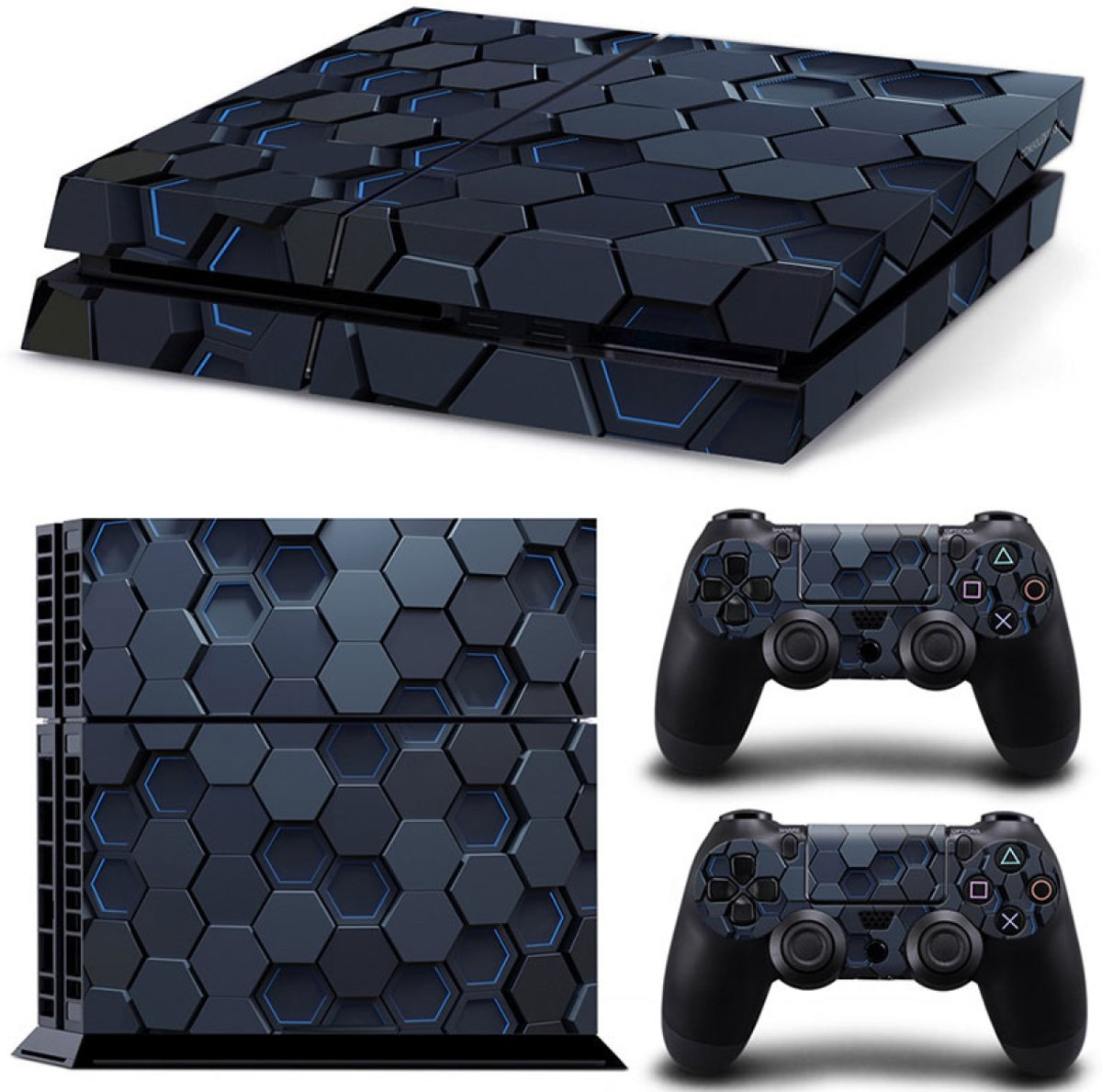 Hex 3D - PS4 Console Skins PlayStation Stickers