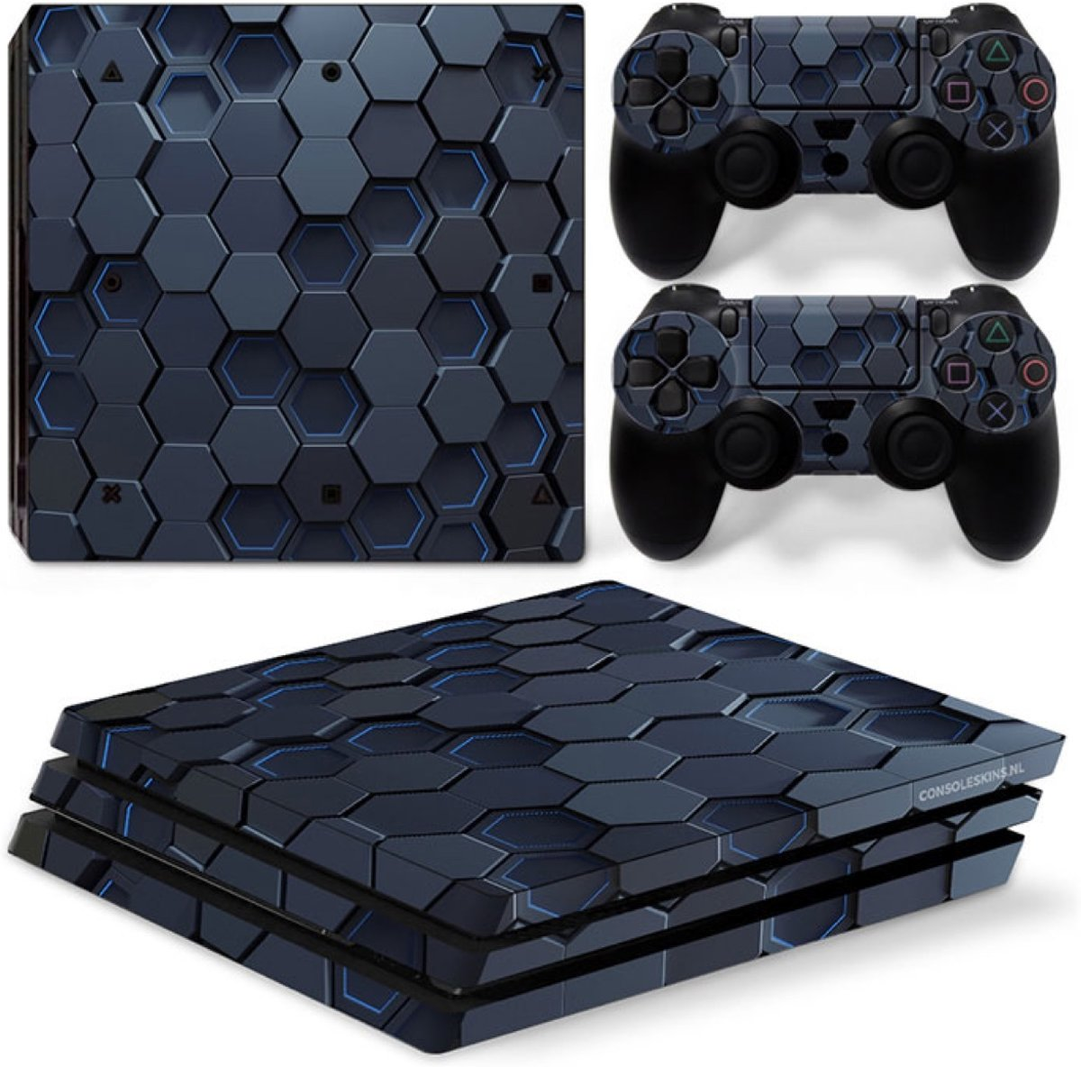 Hex 3D - PS4 Pro Console Skins PlayStation Stickers