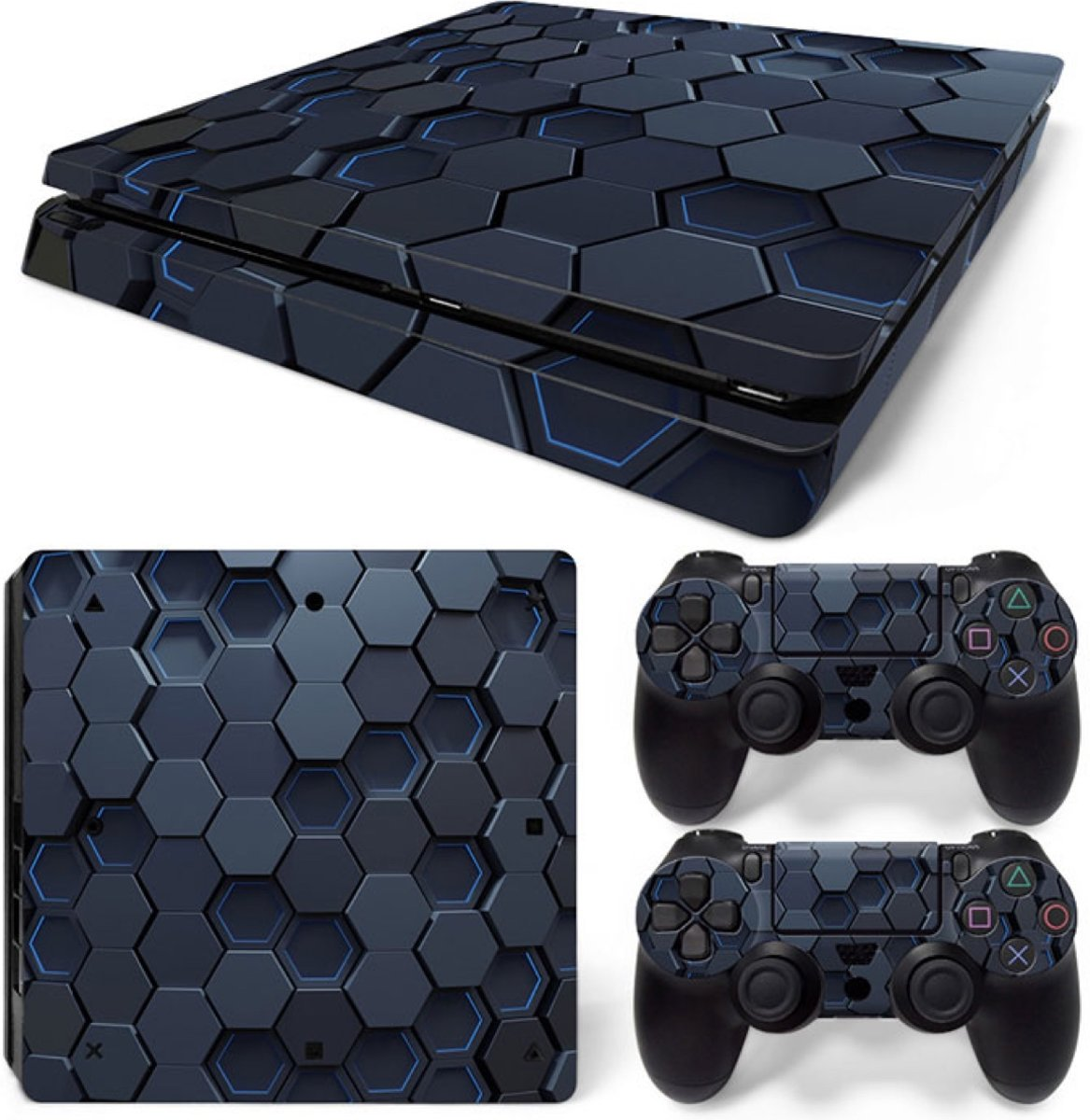 Hex 3D - PS4 Slim Console Skins PlayStation Stickers