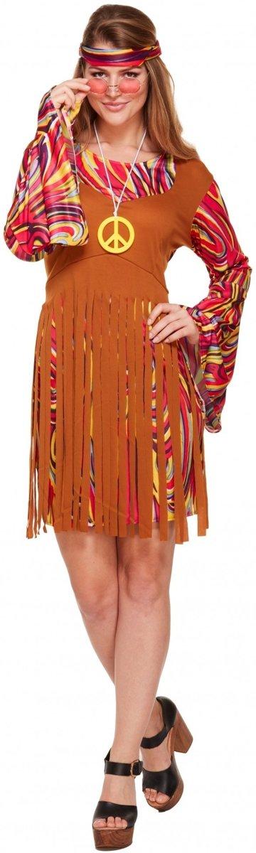 1591f0a5e81ced Hippie jurk met franjes