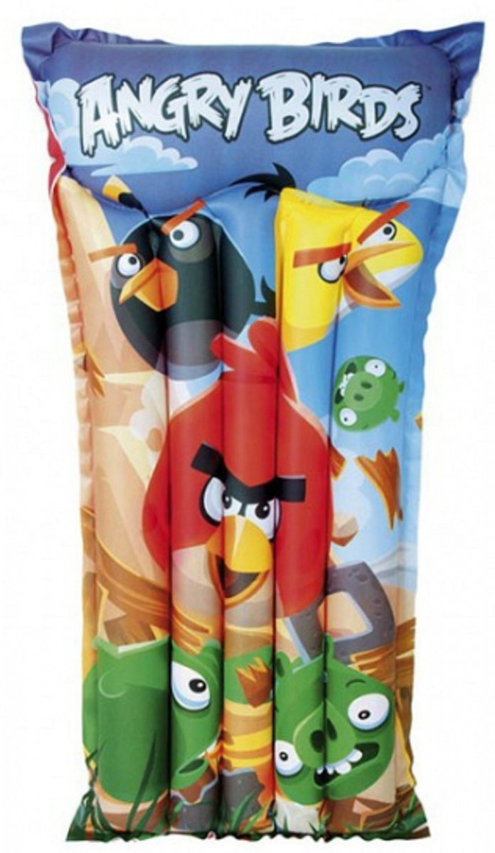 Luchtbed Angry Birds 119 x 61 cm