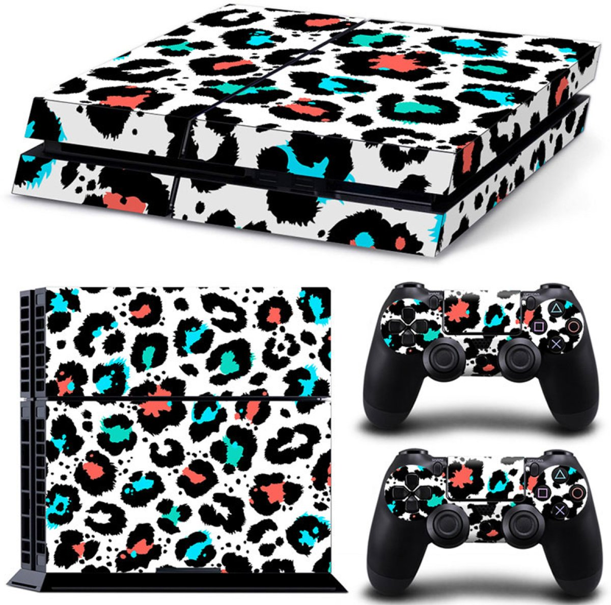 Luipaard Print Multi - PS4 Console Skins PlayStation Stickers