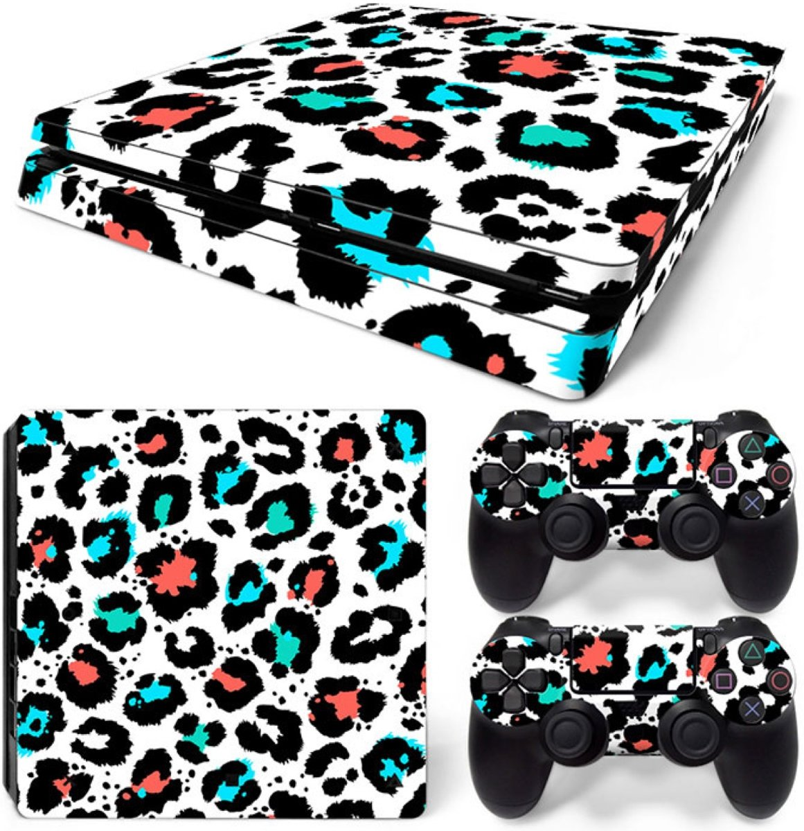 Luipaard Print Multi - PS4 Slim Console Skins PlayStation Stickers