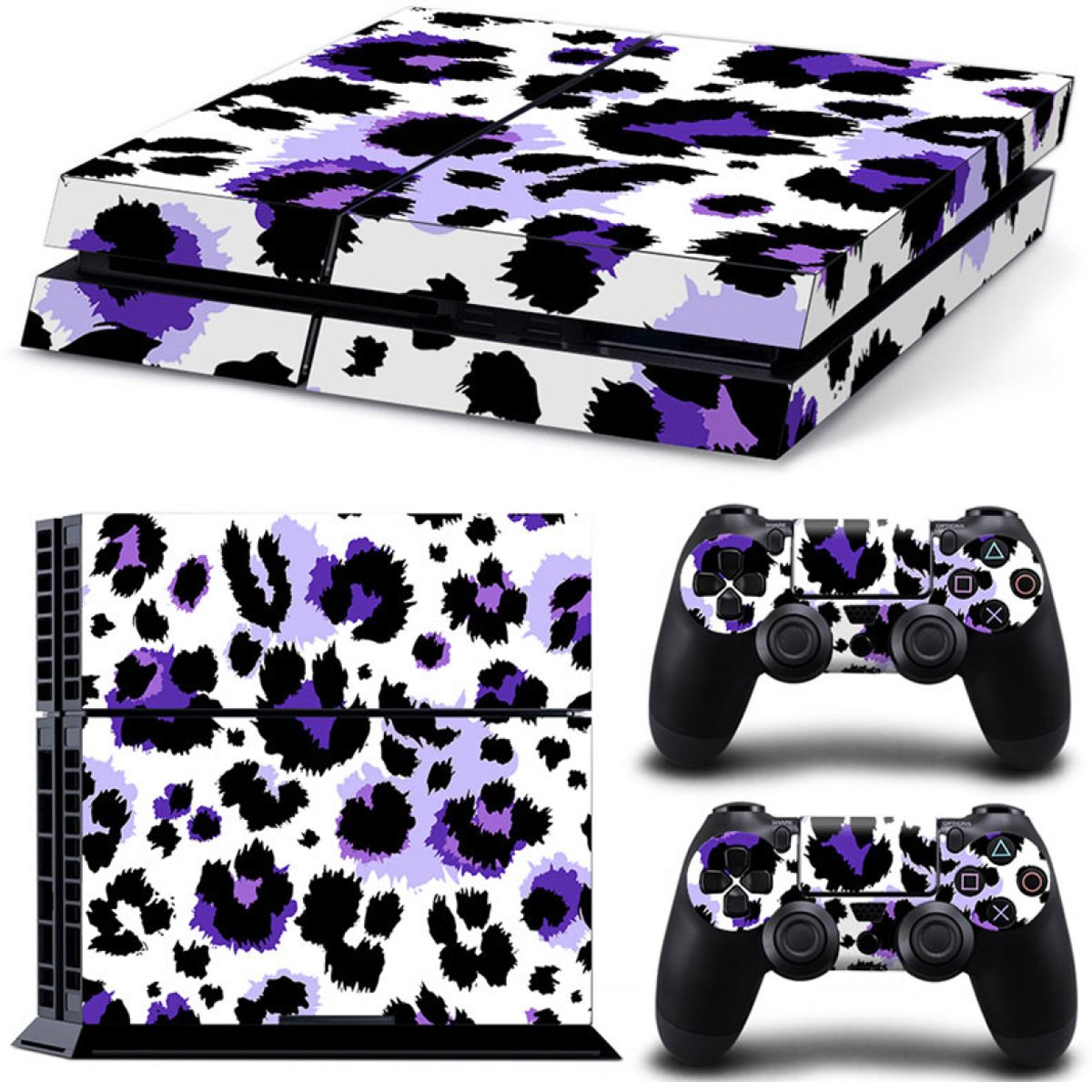 Luipaard Print Paars - PS4 Console Skins PlayStation Stickers