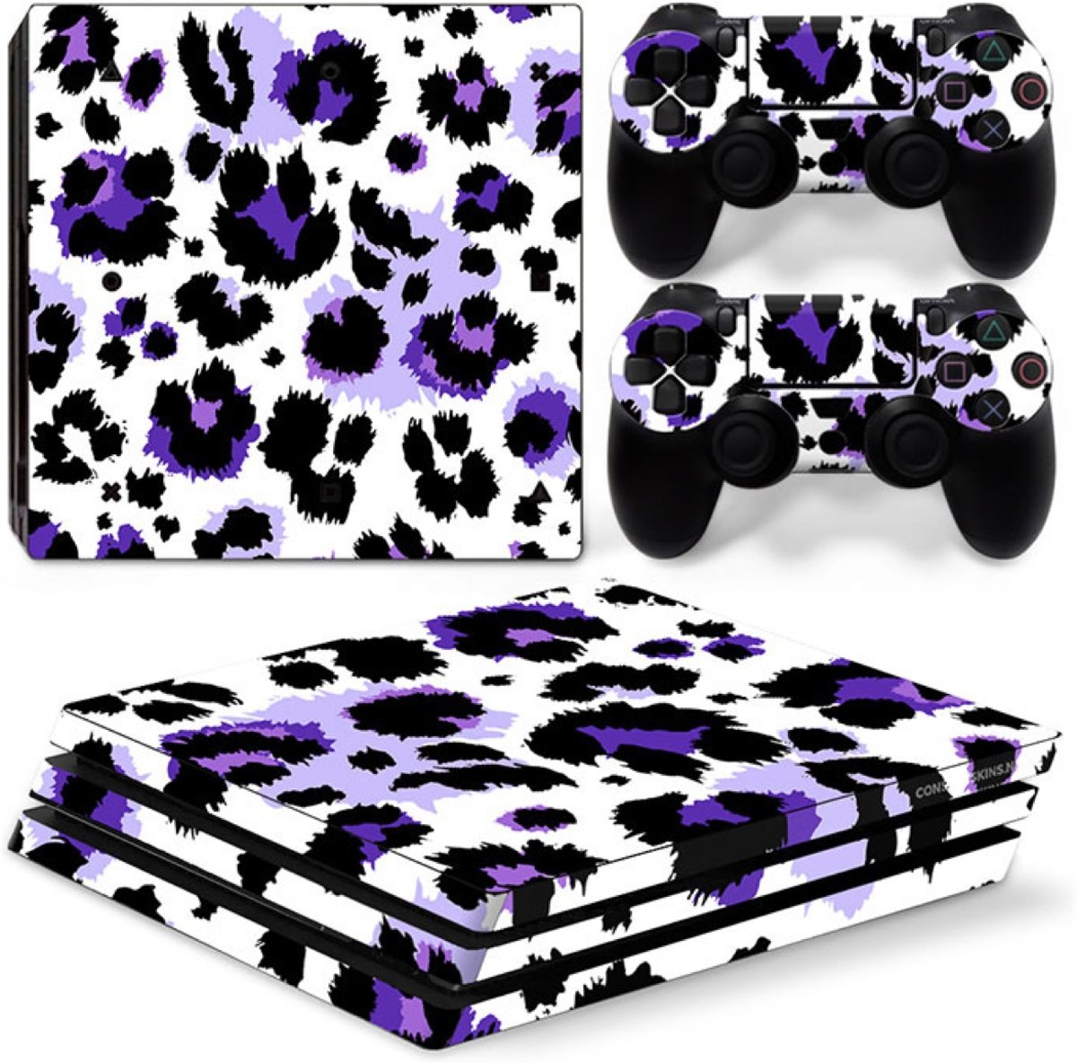 Luipaard Print Paars - PS4 Pro Console Skins PlayStation Stickers
