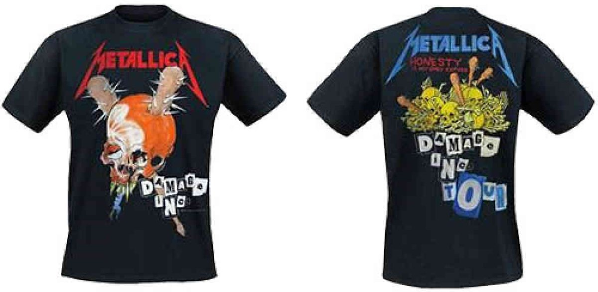 Metallica Heren Tshirt -XL- Damage Inc Zwart