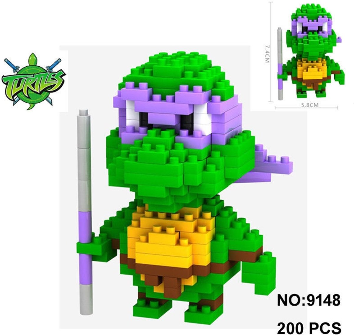 Nanoblocks Donatello Turtples (TMNT) - LNO