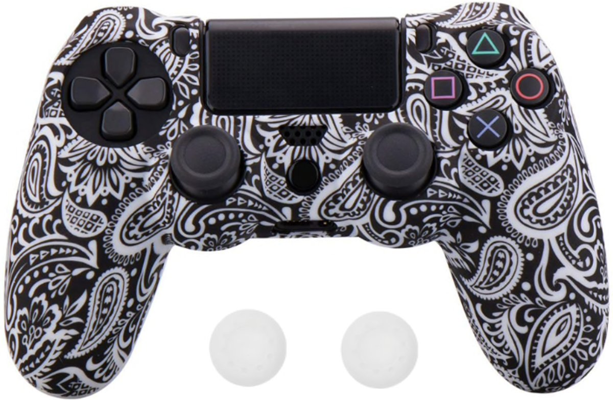 PS4 Controller Silicone Hoes Playstation 4 - Bandana wit