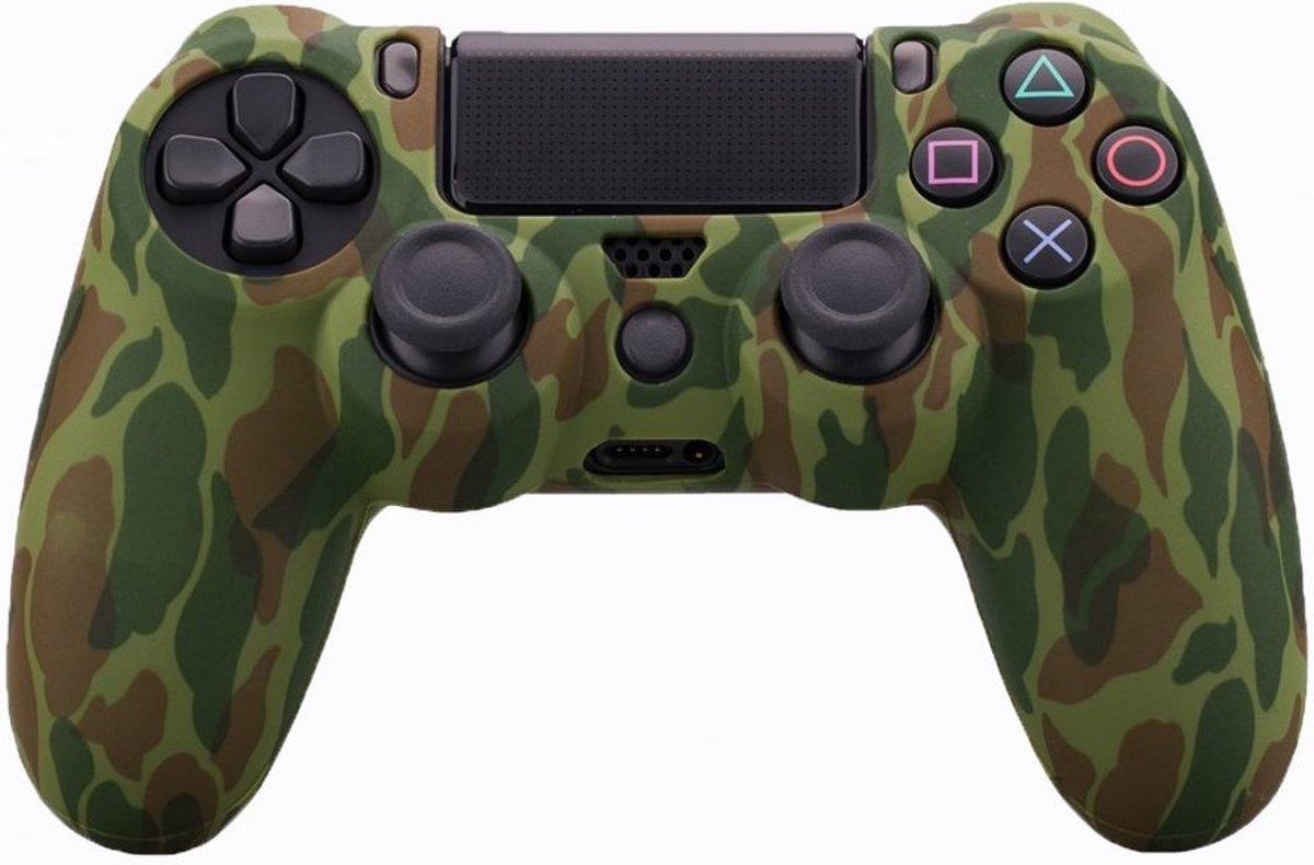PS4   Silicone Hoes Playstation 4 - Camouflage groen