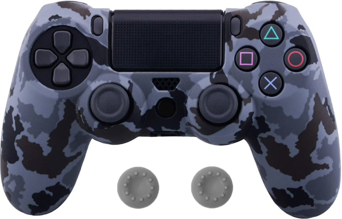 PS4 Controller Silicone Hoes Playstation 4 - Camouflage licht grijs/zwart