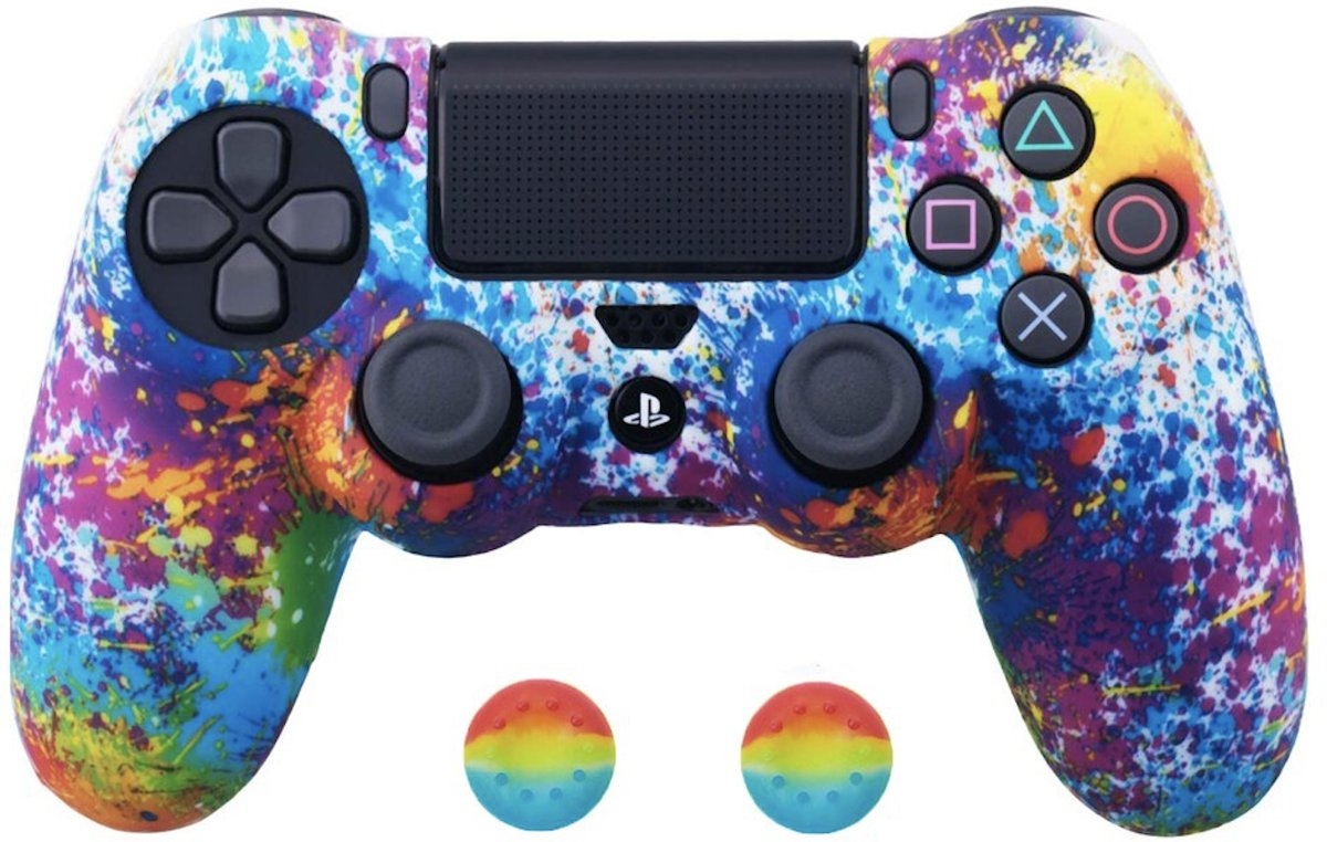 PS4 Controller Silicone Hoes Playstation 4 - Regenboog ( Special Edition)