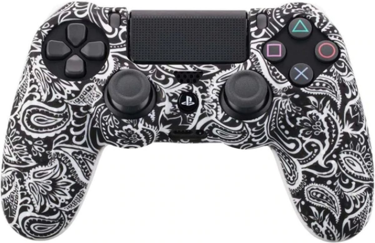 PS4 Controller Silicone Hoes met Noppen - Black leaf