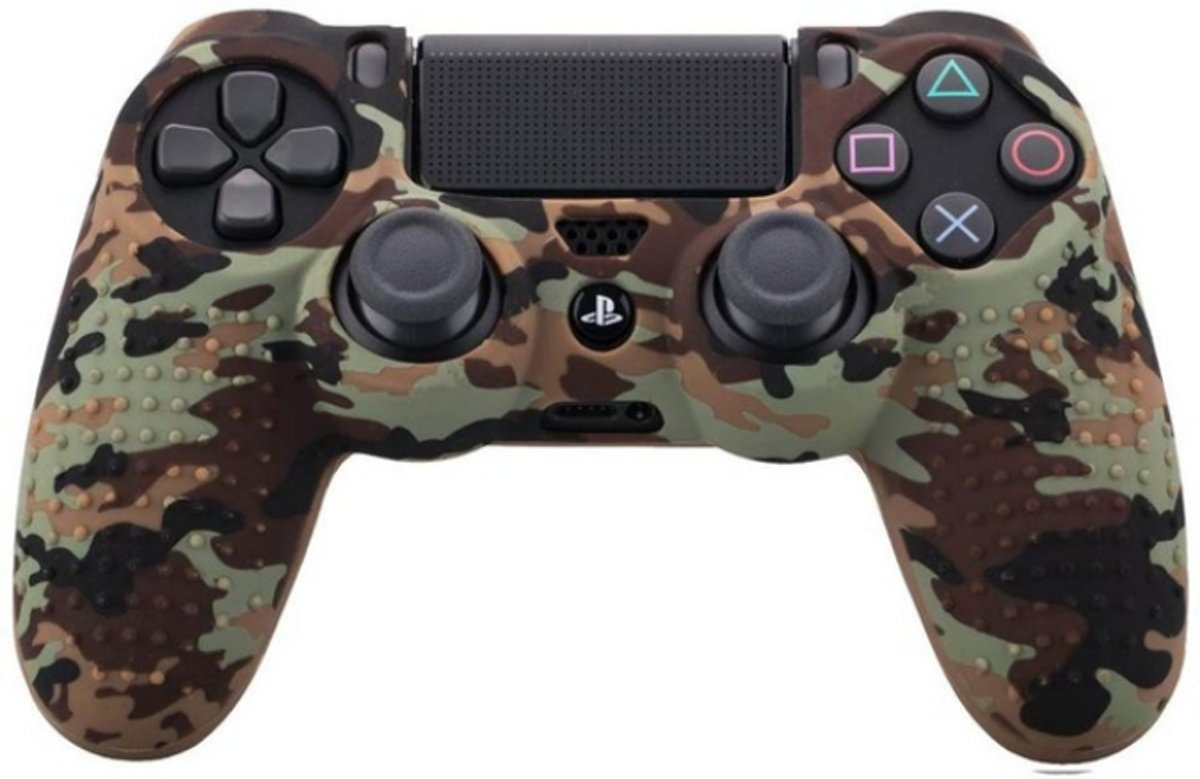 PS4 Controller Silicone Hoes met Noppen - Camouflage