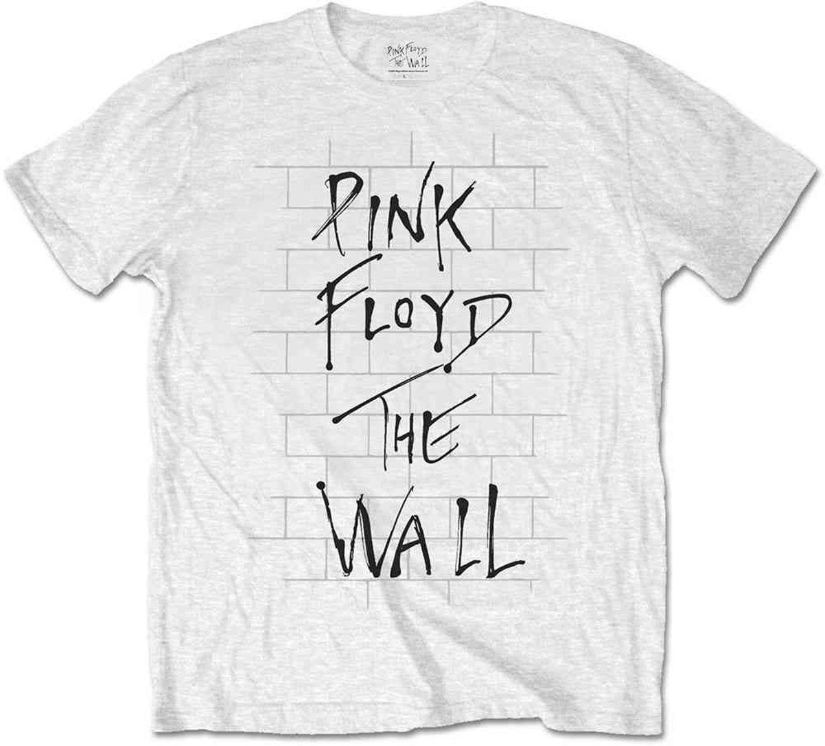 Pink Floyd - The Wall & Logo heren unisex T-shirt wit - S