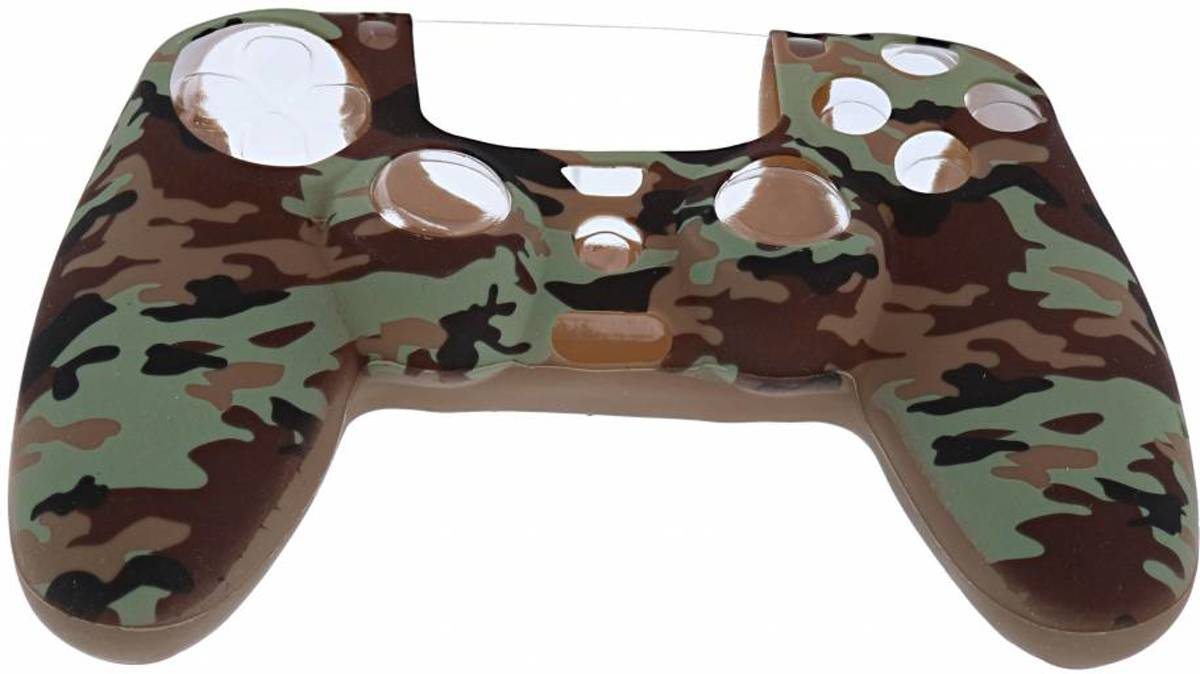 Playstation 4 Controller Silicone hoesje - PS4 controller Soft Cover + Thumb Grips Camouflage Desert
