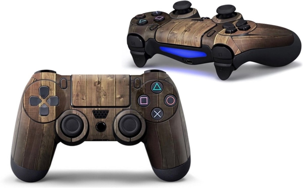 Ps4 controller Skin Bruin Hout  Playstation 4 controller Sticker Brown Wood Print