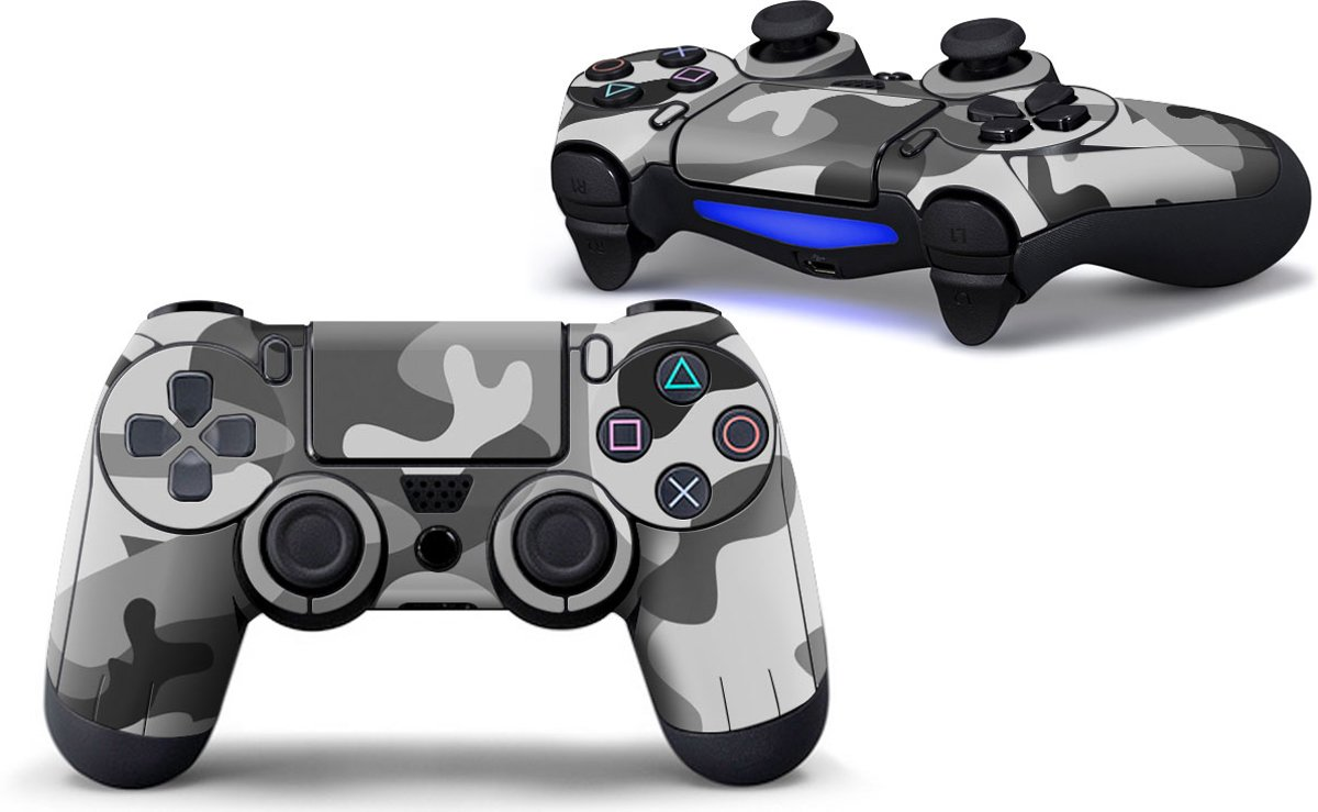 Ps4 controller Skin Grey Camo Playstation 4 controller Sticker camouflage grijs