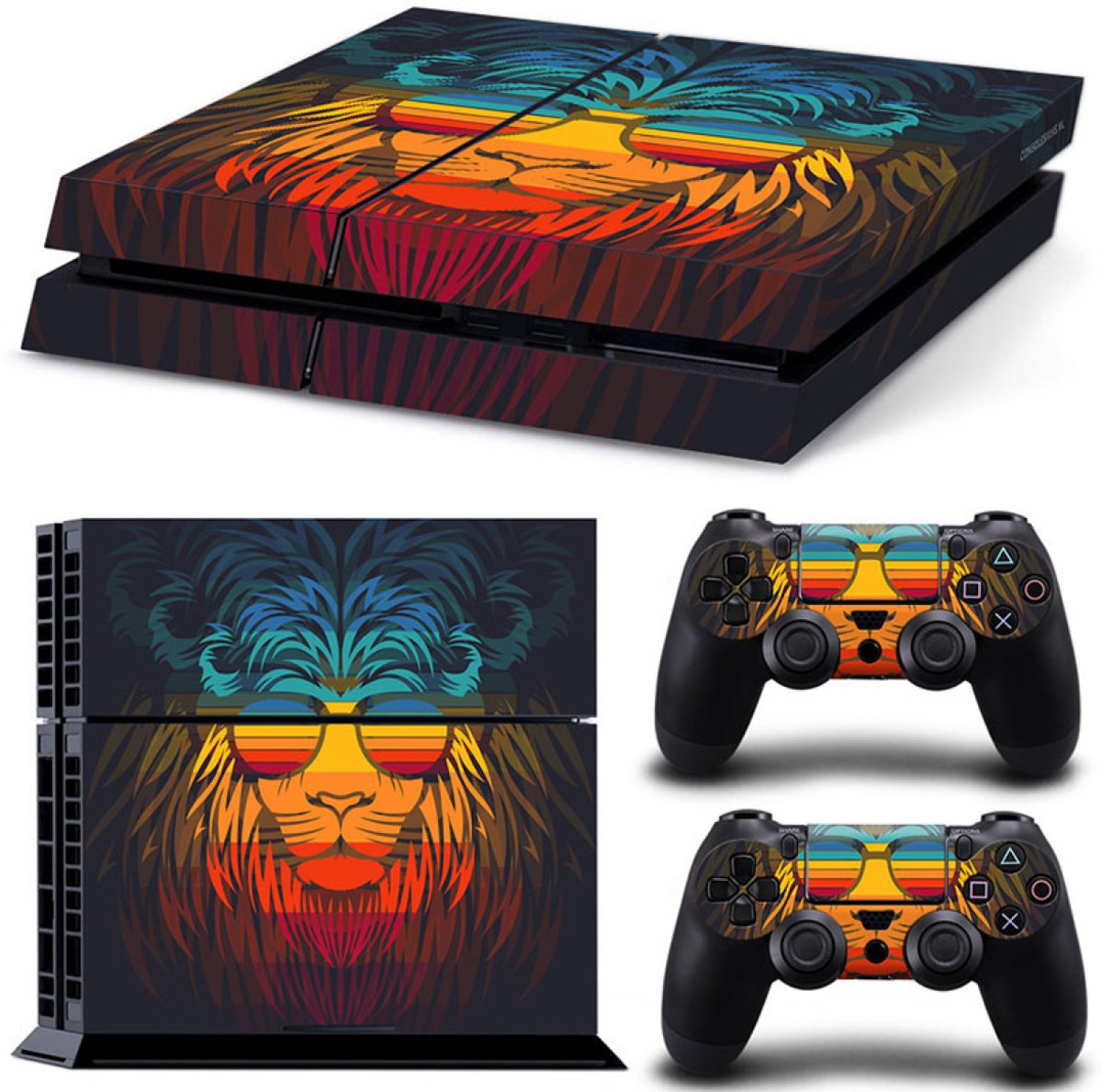 Retro Leeuw - PS4 Console Skins PlayStation Stickers