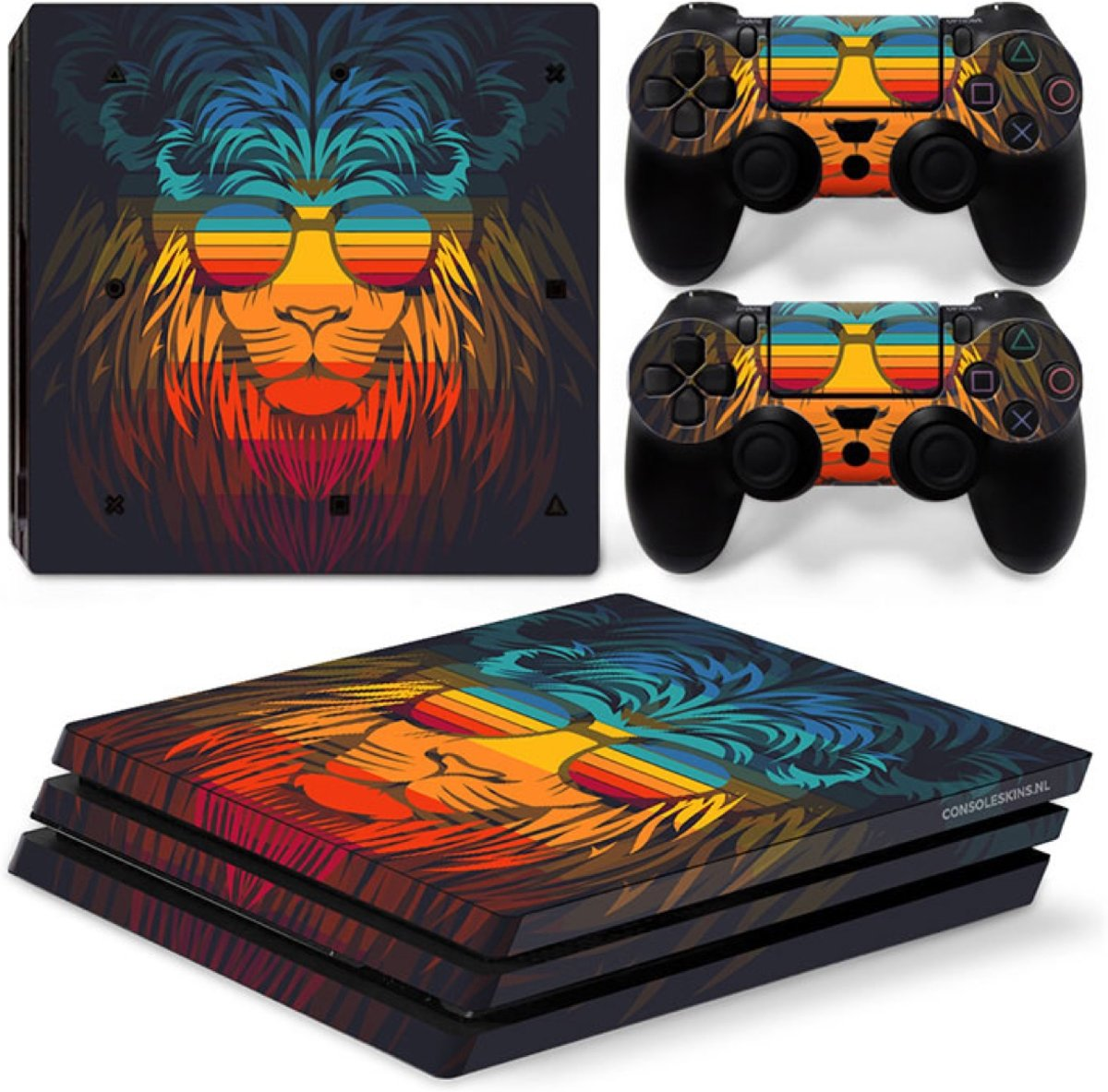 Retro Leeuw - PS4 Pro Console Skins PlayStation Stickers