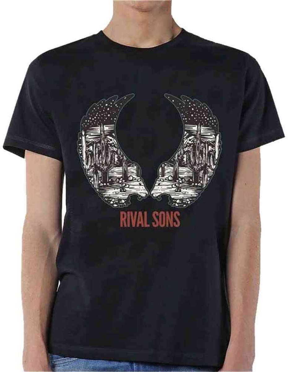 Rival Sons - Desert Wings heren unisex T-shirt zwart - M