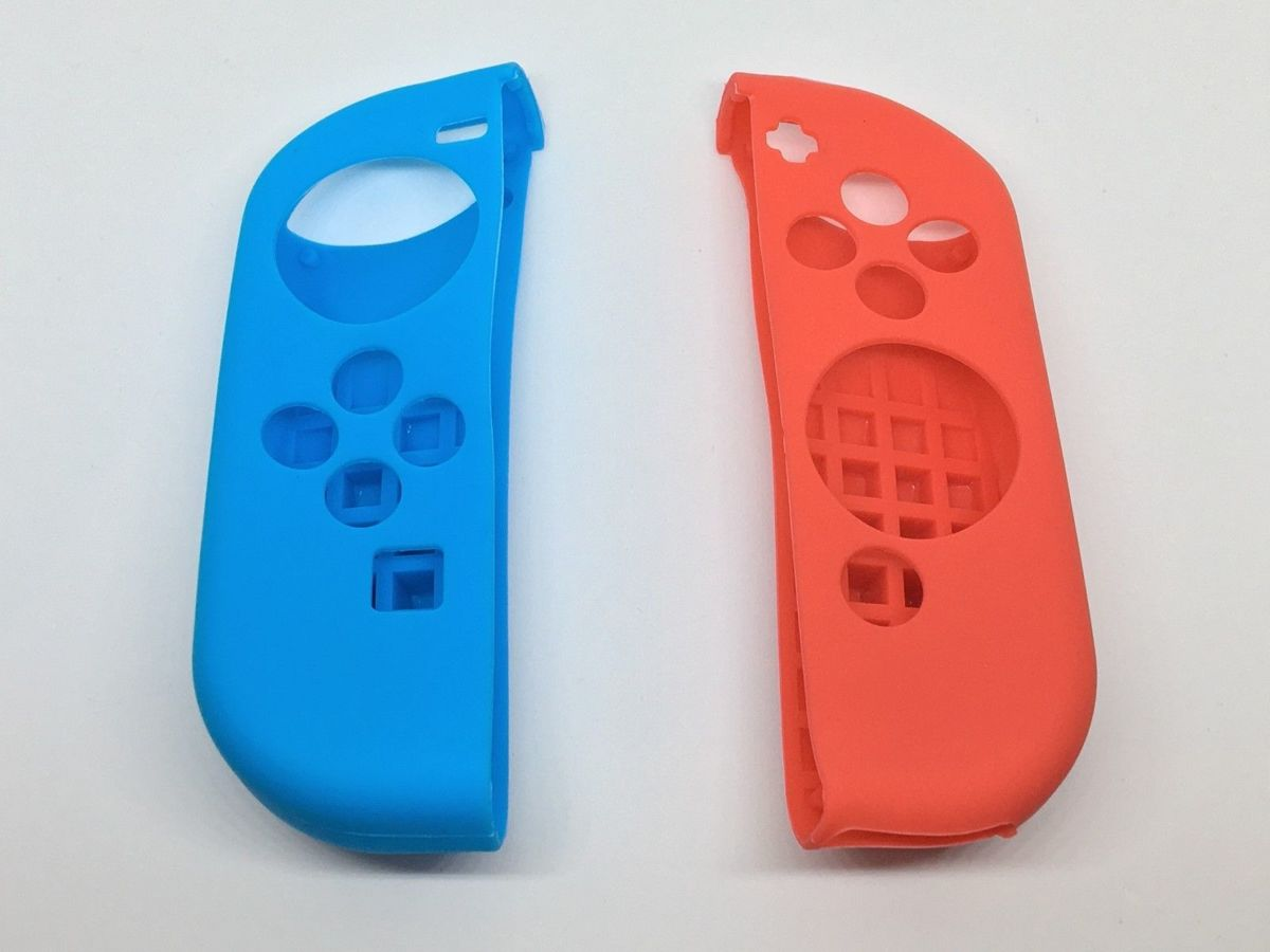 Silicone Anti Slip cover voor Nintendo Switch Controller rood/blauw