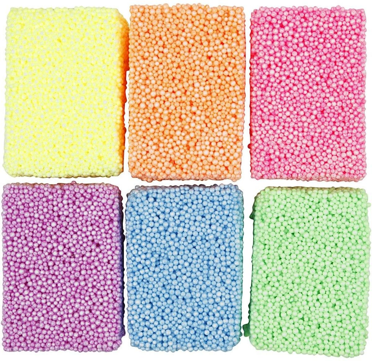 Soft Foam, 6x10 gr, kleuren assorti
