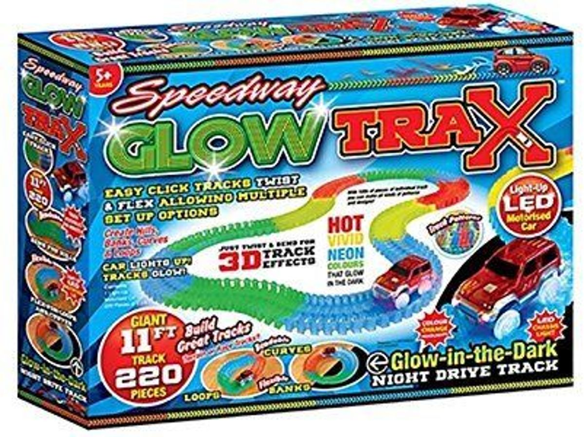 Speedway Glow Trax | Light-up Led Car | Night Drive Track autobaan