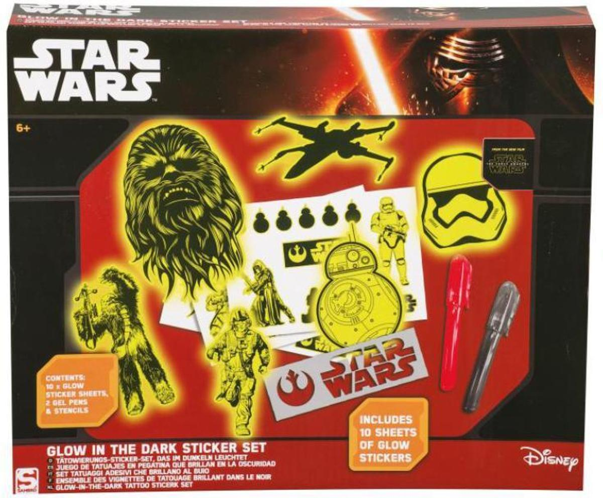 Star wars glow in the dark sticker set