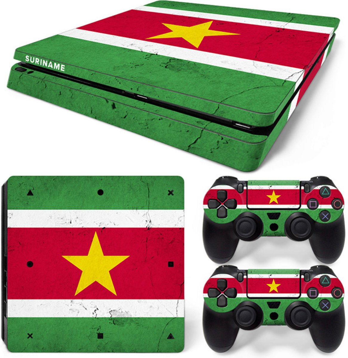 Suriname - PS4 Slim Console Skins PlayStation Stickers