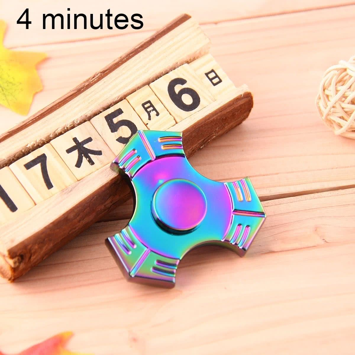 T7   Spinner Toy Stress rooducer Anti-Anxiety Toy voor Children en Adults, 4 Minutes Rotation Time,  Steel Beads Bearing + Zinc Alloy materiaal, Colorful Three Leaves