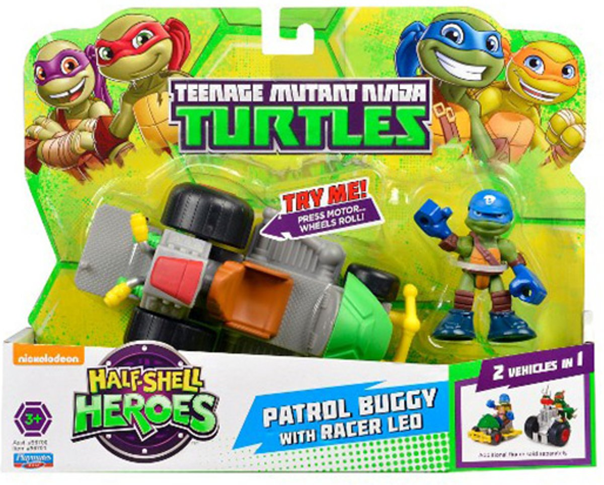 Teenage Mutant Ninja Turtles - Patrol Buggy with racer Leo