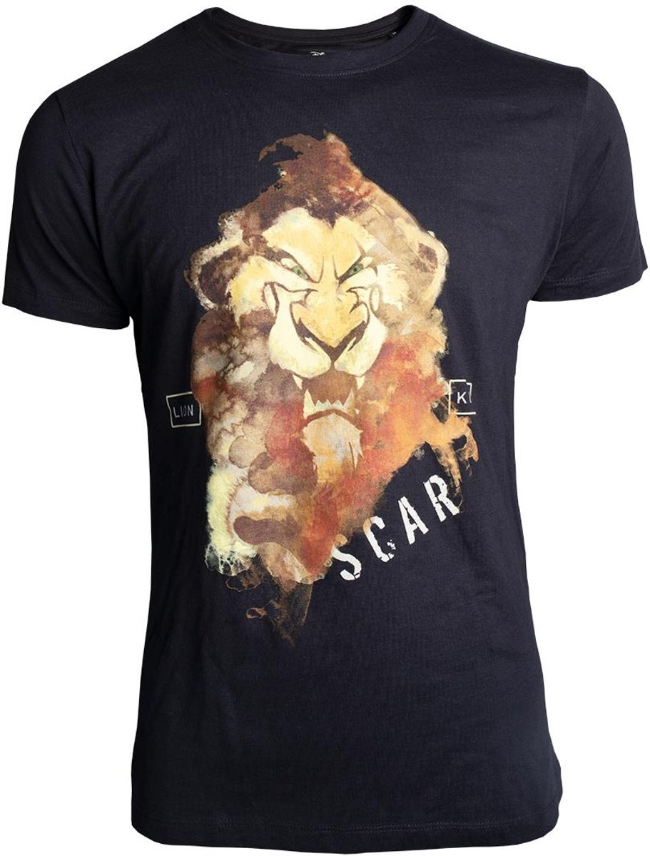 The Lion King Heren Tshirt -L- Scar Zwart