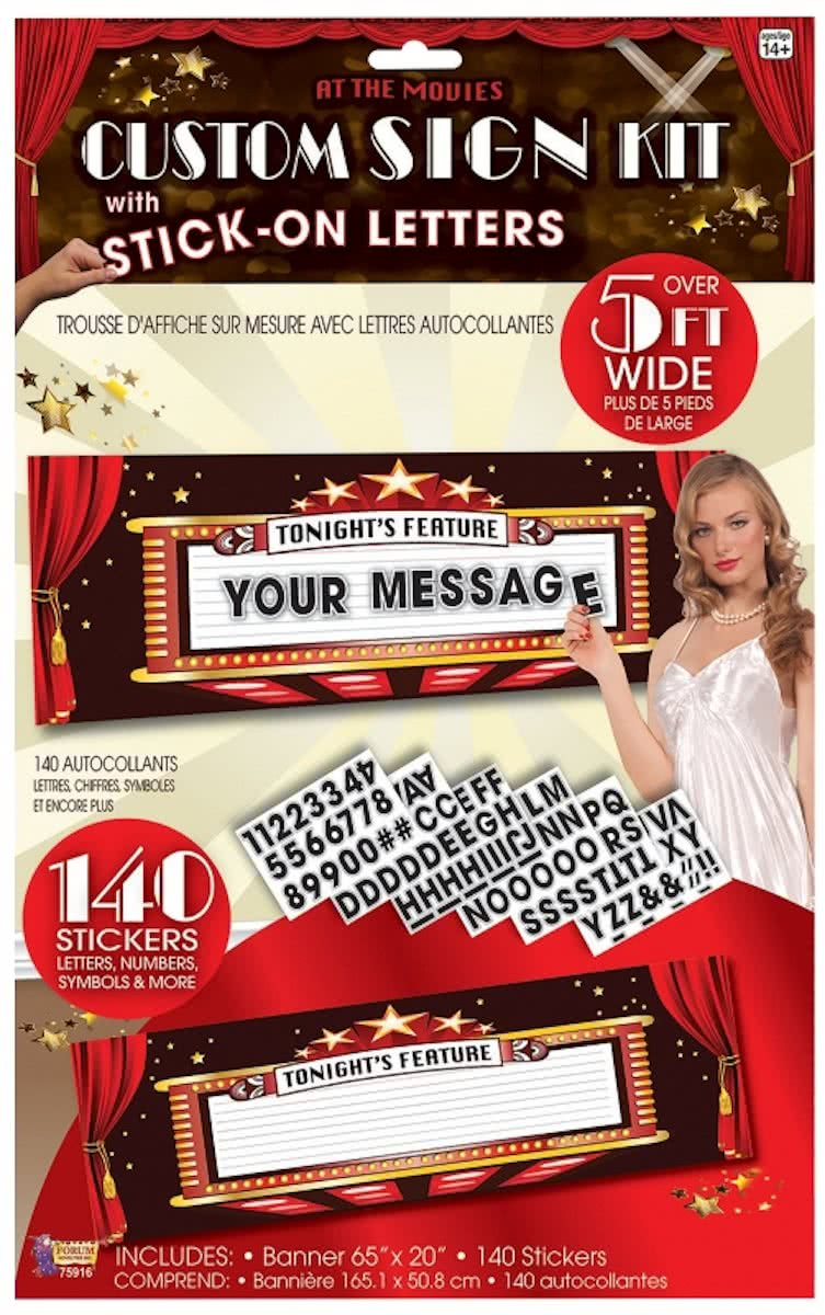 Theater entree bord 165 cm - Hollywood thema versiering