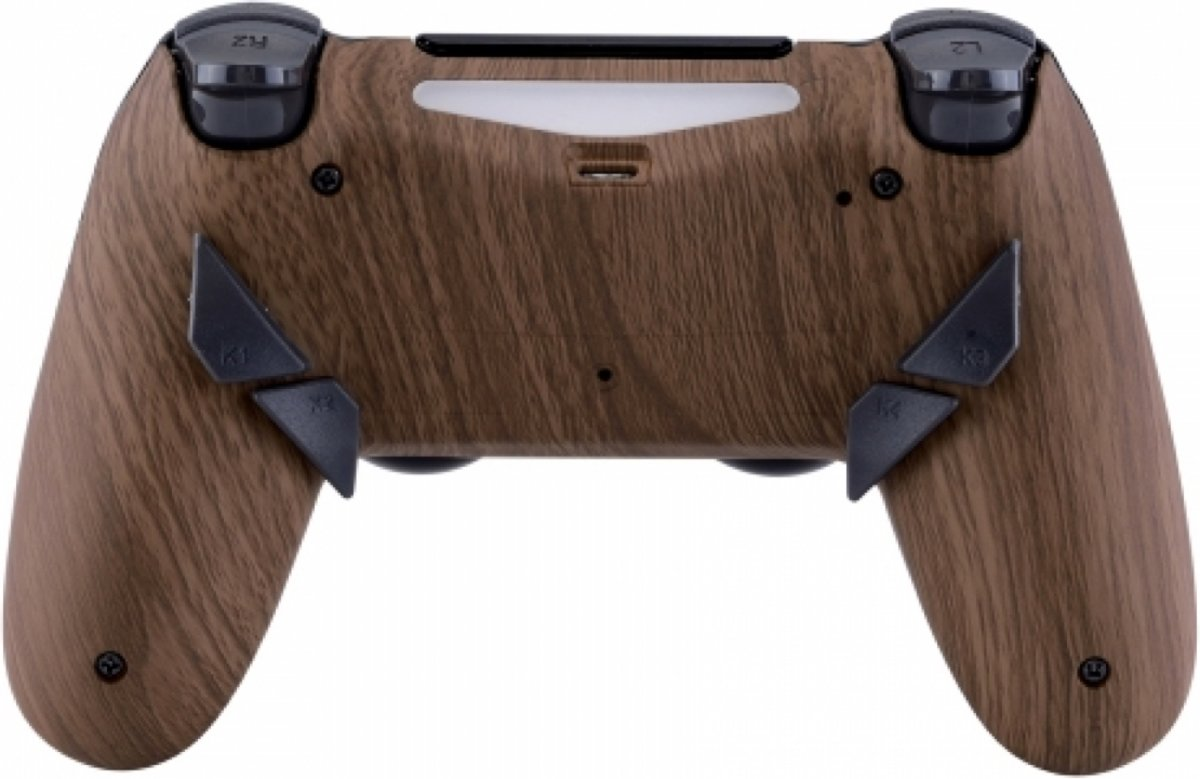Wood - Custom PlayStation PS4 PRO eSports Wireless Dualshock 4 V2 Controller / SCUF Remap MOD
