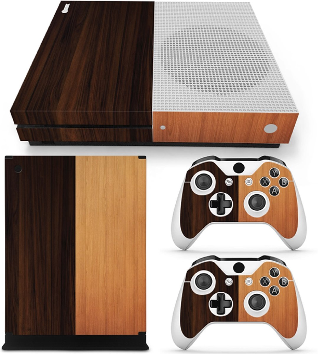 Wood Mix - Xbox One S Console Skins Stickers