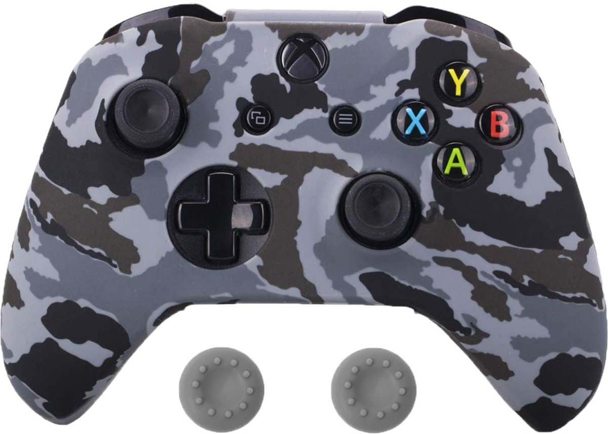 Xbox   Silicone Hoes - Camouflage Grijs