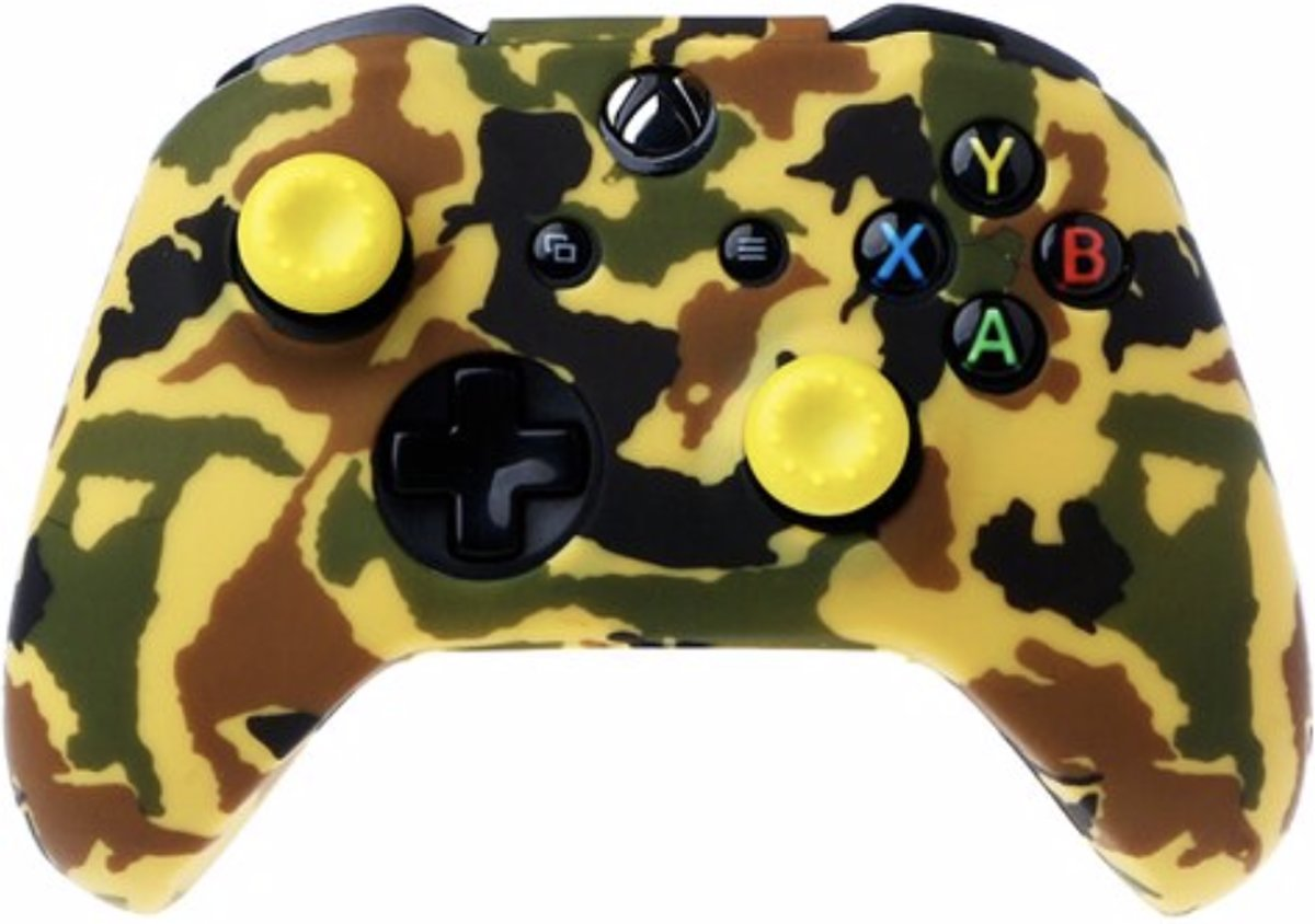 Xbox   Silicone Hoes - Camouflage geel