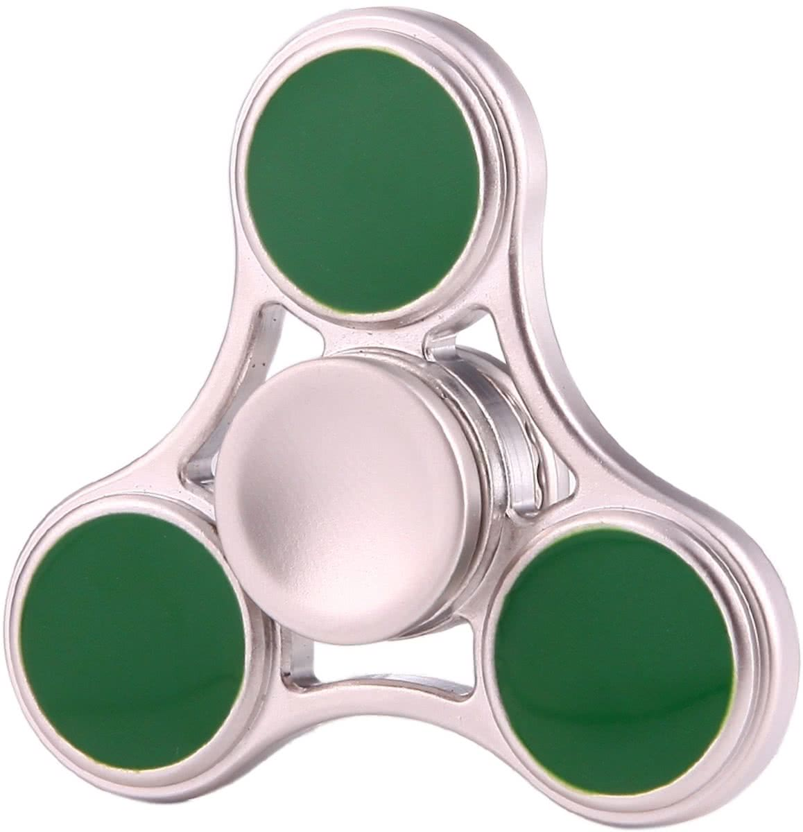 Zinc Alloy   Spinner Toy Stress rooducer Anti-Anxiety Toy voor Children en Adults, 5 Minutes Rotation Time, Small Steel Beads Bearing, Three Leaves(groen)