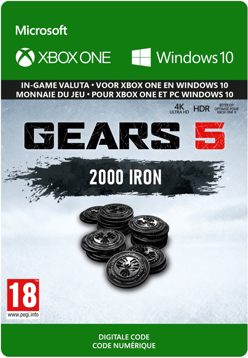 Gears 5: 2.000 Iron  + 250 Bonus Iron - In-Game Valuta - Xbox One / Windows Download