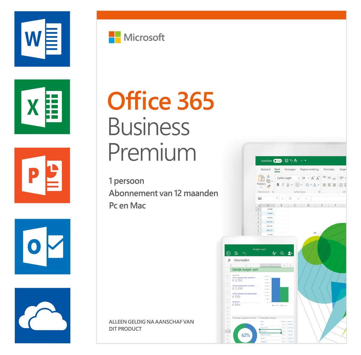 Microsoft Office 365 Business Premium - 1 jaar abonnement (download)