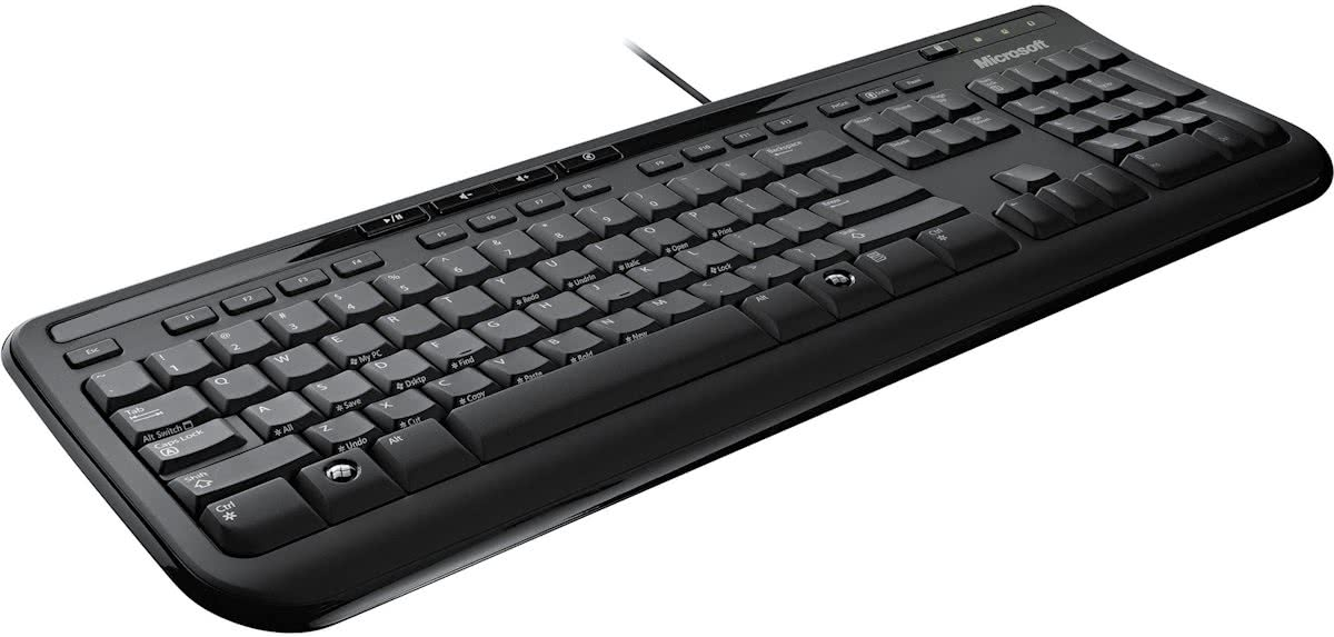 Microsoft Wired Keyboard 600 - Toetsenbord - Azerty - Zwart